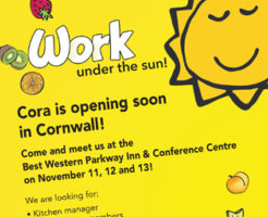Cora Hiring for New Restaurant in Cornwall