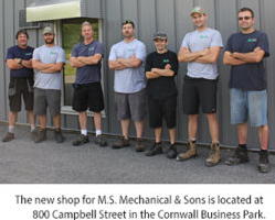 M.S. Mechanical & Sons Establish New Shop in the Cornwall Business Park