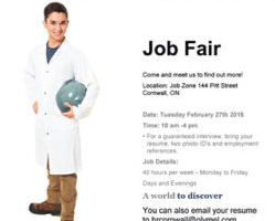 Olymel Holding Job Fair this Month