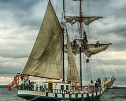 Tall Ship Black Jack Visiting Cornwall in July