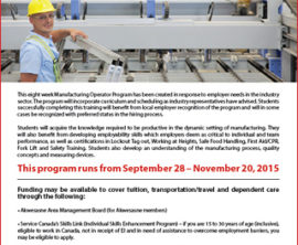 New Manufacturing Operator Program at St. Lawrence College