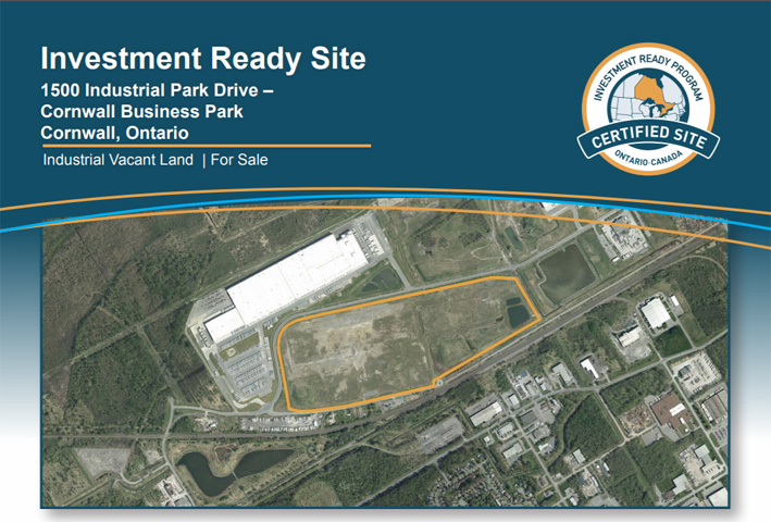 Investment Ready - Certified Site - Cornwall Ontario