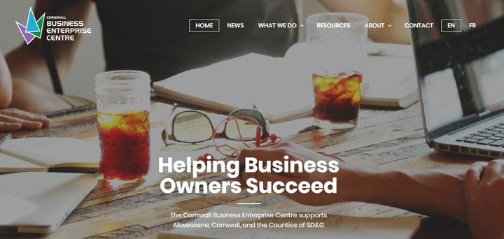 Cornwall Business Enterprise Centre website