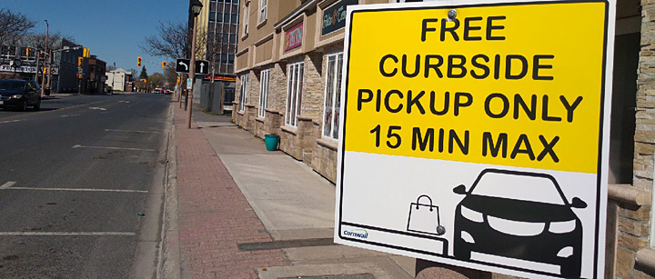 Curbside Pickup Parking in Cornwall