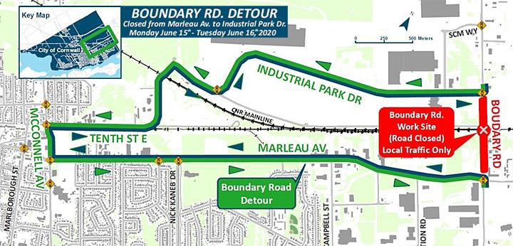 Boundary Road Closure -Cornwa