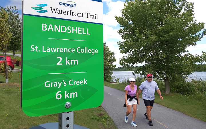 Waterfront Trail Distance Signs - Cornwall Ontario