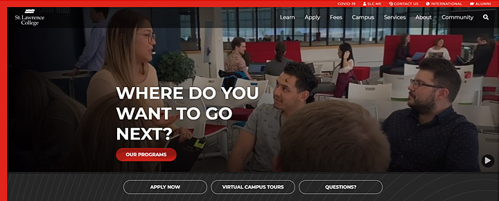 St Lawrence College website