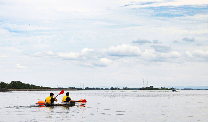 Kayaking on the St. Lawrence River