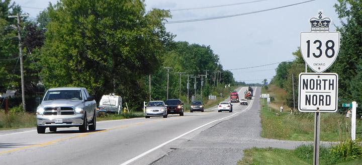Highway 138 Cornwall Ontario